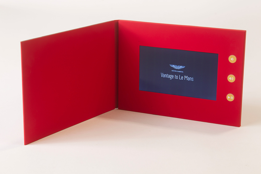 Bespoke video brochures video cards sound cards audio and light both video in print and custom recorded sound modules to add to your design projects from invitations greeting cards brochures pos display units m4hsunfo